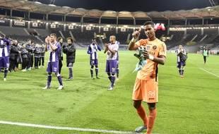 Alban Lafont, le très jeune gardien du TFC (16 ans), a réussi des débuts victorieux en Ligue 1 contre Nice, le 28 novembre 2015 au Stadium de Toulouse.