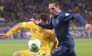 Franck Ribéry lors du match entre la France et l'Ukraine le 15 novembre 2013.
