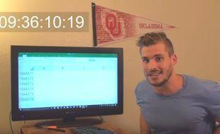 Un Américain a mis 9h à atteindre la dernière ligne d'un tableur Excel.