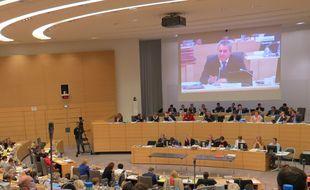 L'hémicycle du conseil régional des Hauts-de-France.