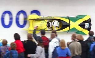 L'équipe jamaïcaine de bobsleigh en 2002 lors des JO de Salt Lake City.