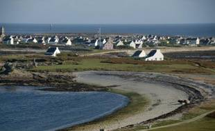 Une vue de l'Ile de Sein, le 11 octobre 2006