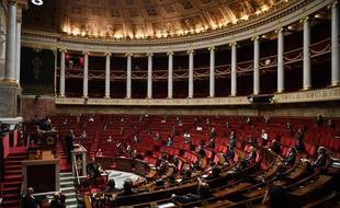 Illustration de l'Assemblée nationale 28 avril 2020.