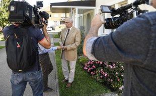 Bernard Méraud, l'avocat de l'homme suspecté d'avoir enlevé la petite Maëlys dans la nuit du 27 au 28 août dernier, a répondu aux questions des journalistes, le 4 septembre 2017.