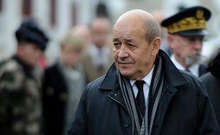 Le ministre français de la Défense Jean-Yves Le Drian le 19 janvier 2016 à Modane
