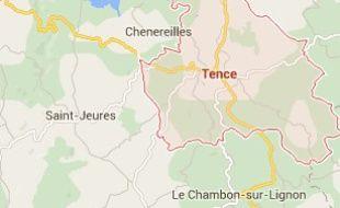 La commune de Tence en Haute-Loire.