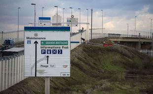 Les barrières anti intrusions du site Eurotunnel.