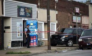 La police sur les lieux d'une fusillade à Kansas City, le 6 octobre 2019.