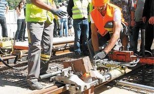 Un total de 150 soudures reste à réaliser sur l'extension de la ligne 1.