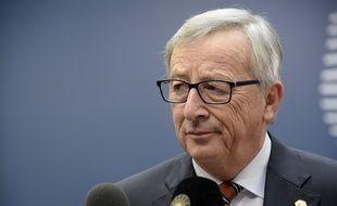 Le président de la Commission européenne Jean-Claude Juncker lors d'une conférence de presse le 20 mars 2015.