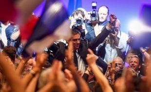 François Fillon lors de son meeting à Toulouse, le 13 avril 2017.