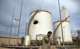 Tripoli,Libye, le 3 octobre 2012. Situe a proximite de Misrata, la Libya Iron and Steel Company - Lisco - a été en partie détruite par l'armée loyaliste de Kadhafi pendant la révolution libyenne.