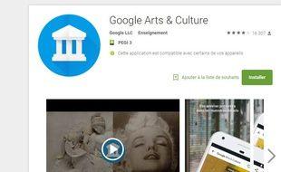 L'application Google Arts et Culture permet de trouver une ressemblance entre un visage et une célèbre peinture.