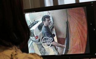Xavier Dupont de Ligonnès sur une bande de vidéo-surveillance en 2011.