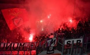 Les supporters de Benfica au Parc OL, le 5 novembre 2019, en phase de groupes de la Ligue des champions.