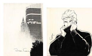 LOT 341 PHILIPPE FRANCQ LARGO WINCH Illustration originale. Après Johnny Hallyday et Zinedine Zidane, Largo Winch est engagé à son tour en 2001 pour représenter le parfum pour homme de Dior, Eau Sauvage. La marque de luxe cherche un personnage personnifiant la virilité, le mystère, la beauté et l'audace de la jeunesse pour illustrer une fragrance dont le succès ne s'est pas démenti depuis 1966. Signé. Encre de chine sur papier 26,5 CM X 27,8 CM (10,43 X 10.94 IN.) 15 000 – 17 000 euros