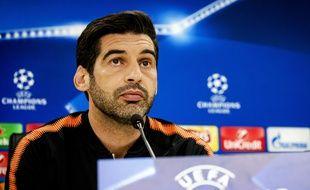 Le coach portugais du Chakhtar Donetsk, Paulo Fonseca.