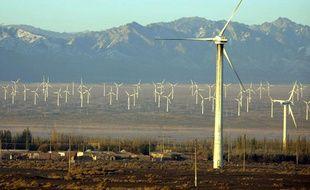 Des éoliennes à Dabancheng, en Chine.
