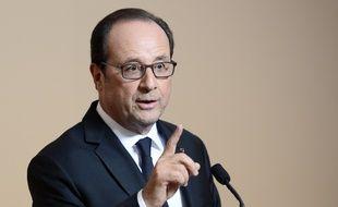 François Hollande à la Maison de l'Amérique latine à Paris, le 18 octobre 2016.