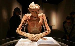 Réplique en résine d'un corps humain exposée à Buenos Aires dans le cadre de l'exposition «Bodies» expliquant la structure et le fonctionnement du corps humain, Brésil, le 15 août 2007.