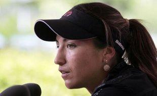 Aravane Rezai après sa victoire au premier tour de Roland-Garros, le 23 mai 2010.