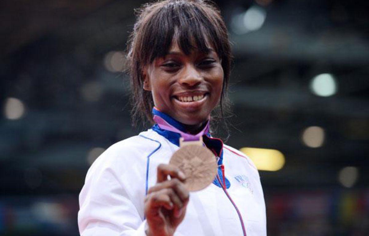 La judoka français Priscilla Gneto, médaillée de bronze des Jeux olympiques de Londres, le 29 juillet 2012. – F.Fife/AFP