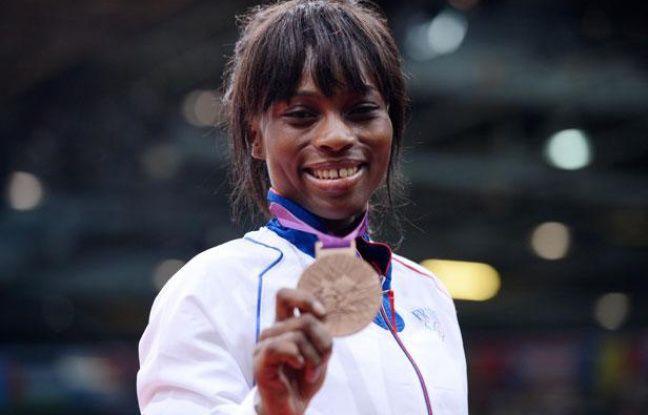 La judoka français Priscilla Gneto, médaillée de bronze des Jeux olympiques de Londres, le 29 juillet 2012.