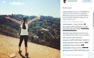 Instagram de Lea Michele posté le 26 août 2015