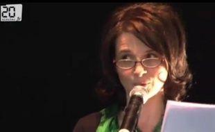 Juliette Binoche ouvre le Printemps des poètes à Paris, le 7 mars 2011