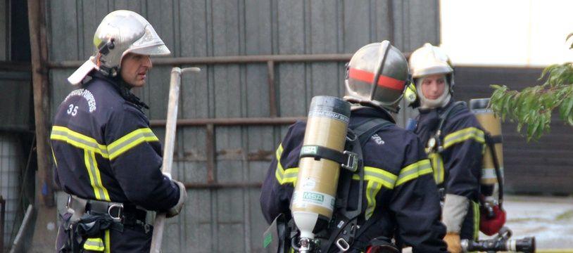 Illustration d'une intervention des pompiers d'Ille-et-Vilaine, ici à Chantepie, près de Rennes, en 2012.