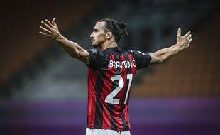 Zlatan Ibrahimovic sous le maillot du Milan AC, le 1er août 2020.