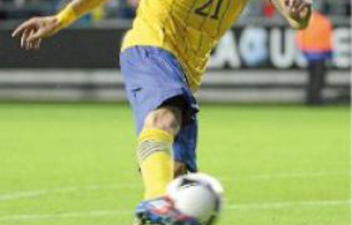 Wilhelmsson est remplaçant avec l'équipe de Suède. –  R. LARSSON / SCANPIX SUEDE / SIP