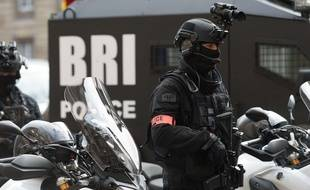 Un policier de la BRI, brigade de recherche et d'intervention. (Illustration)