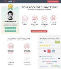 Exemple de CV locatif sur Locat'Me