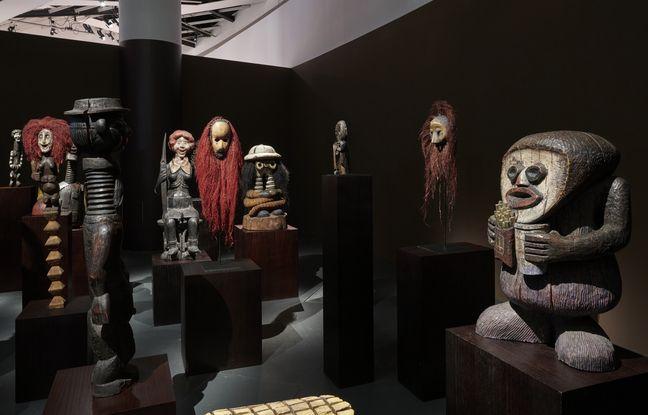 Dinos et Jake Chapman, «The Chapman Family collection», 2002. Vue de l''exposition «Ex Africa, Présences africaines dans l'art aujourd'hui». Du 9 février au 27 juin 2021.