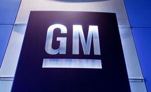 Logo de l'entreprise General Motors, dont la start-up Cruise souhaite développer son véhicule autonome, Origin.