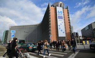 Le bâtiment de la Commission européenne à Bruxelles, le 21 mars 2017.