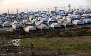 Un camp de réfugiés irakiens à quelques kilomètres de la frontière turque, le 25 janvier 2015