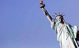 La statue de la liberté de New York aux Etats-Unis. Illustration.