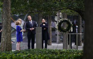 Le prince Harry et Meghan Markle visitent le National September 11 Memorial & Museum à New York, le 23 septembre 2021.