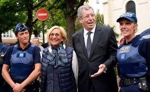 Patrick et Isabelle Balkany photographiés le 7 mai 2015, à Levallois-Perret.