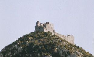 Le château cathare de Montségur, en Ariège