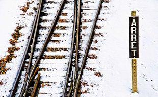 Chemin de fer sous la neige, illustration