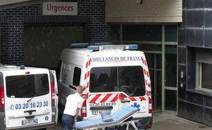 Entrée des urgences de l'hôpital Saint Vincent de Paul à Lille
