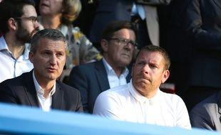 Sylvain Armand ici avec l'ancien président du Stade Rennais Olivier Létang.