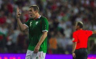 Le joueur de l'équipe d'Irlande Richard Dunne, à Sofia, le 06 juin 2009.