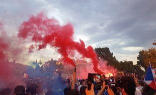 Paris célèbre la victoire des Bleus le 15 juillet 2018.