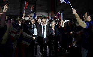 François Fillon et son épouse à leur arrivée à la Villette le 29 janvier 2017