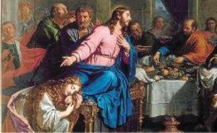 Le repas chez Simon le Pharisien, de Philippe de Champaigne (détail).