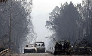 Le gigantesque feu de forêt qui a fait rage le 17 juin 2017 dans la région de Leiria, dans le centre du Portugal a fait au moins 62 morts.